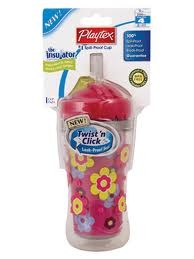 Playtex Insulated Twist n Click Straw Cup 260ml
